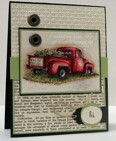 """great guy card-really liking this newsprint idea that keeps popping up **** Stamp set: SU """"Countryside"""""""