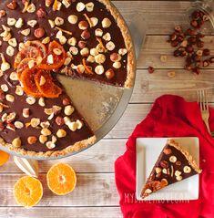 vegan chocolate orange hazelnut tart for when i can add chocolate back ...