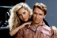 Arnold Schwarzenegger as Douglas Quaid/Hauser & Sharon Stone as Lori in a publicity shot for #TotalRecall (1990) #GetYourAssToMars
