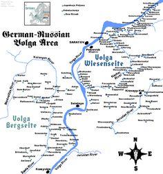 Volga, South Russia Map