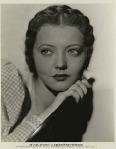 Sylvia Sidney, was most active in films during the 1930s , but continued to star in movies until 1996. This photo was likely taken in the 1940s (possibly late 30s)