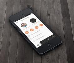 user tabs icons orange flat