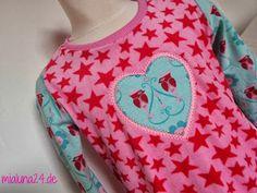 mialuna: Joya  woodpecker jersey + roze/rood sterren