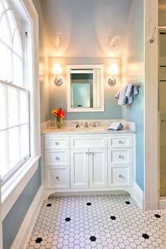 Hexagonal #tile became popular during the 1920s and 1930s in bungalow-style homes // #coverings13 #Crossville