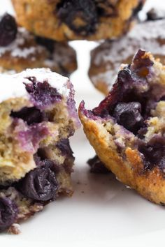Blueberry, Yogurt and Whole-wheat Muffins - Light and airy muffins made with…