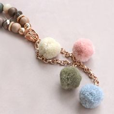 Go for an interesting bohemian look and mix our fun pompom charms with beautiful beads