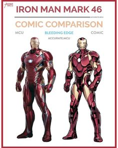 """2,449 Likes, 30 Comments - • Accurate.MCU • mcu fanpage (@accurate.mcu) on Instagram: """"• IRONMAN MARK 46 BLEEDING EDGE - COMIC COMPARISON • in 2008 @robertdowneyjr played iron man for…"""""""