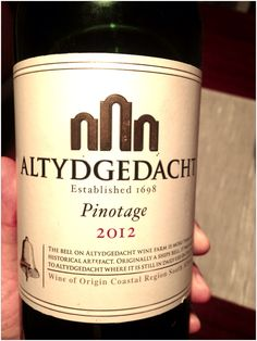 Altydgedacht, Durbanville, South Africa, Pinotage