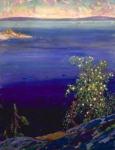 Arthur LISMER. La baie Georgienne, au printemps [oil on canvas], 1917.