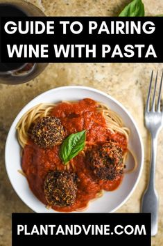 Best wine pairings with pasta - how to pair with tomato-based, creamy, pesto, primavera, and lasagna. Learn when to go red and when to go white! Vegan Recipes Easy, Wine Recipes, Vegetarian Recipes, Vegan Vegetarian, Vegan Meals, Pasta Recipes, Snack Recipes, Pesto Dishes, Vegan Dishes