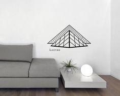 Wandtattoo Paris   Louvre Wandsticker, Wandbild, Wanddeko Aus Vinyl    Entfernbar   3 Größen   In Schwarz Und Weiß