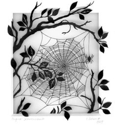 This would look great as a branch coming over my shoulder, enveloping the current web. Inspirational Tattoos, Ink Art, Spider Web Tattoo, Web Tattoo, Art, Art Sketches, Abstract, Coloring Pages, Paper Art