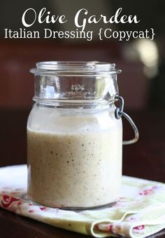 Copycat Olive Garden Salad Dressing Recipe - just like the real thing, made in your own kitchen... #homemade #homestead #homesteading