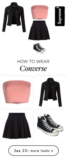 """Sans titre #13467"" by ghilini-l-roquecoquille on Polyvore featuring Annarita N., Converse and LE3NO"