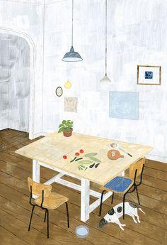 blua:    Daily Life Illustration by #Fumi_Koiki #scenery_illustration #daily_life