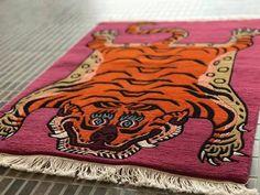tibetan tiger rug - Google Shopping Tiger Rug, Pink Room, Custom Rugs, Rug Cleaning, Chain Stitch, Sheep Wool, Rectangle Shape, Carpet Runner, Cool Rugs