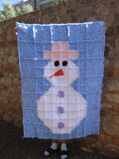 Snowman quilt (with human feet, lol)