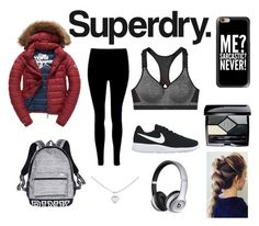 """Superdry"" by camibernardez ❤ liked on Polyvore featuring Superdry, Victoria's Secret, Fuji, NIKE, Casetify, Christian Dior, Beats by Dr. Dre and Cartier"