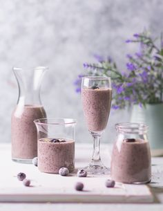Oatmeal Smoothies, Breakfast Smoothies, Breakfast Recipes, Coconut Ladoo Recipe, Blueberry Oatmeal, Vegan Blueberry, Indian Beef Recipes, Vegetarian Snacks, Blueberry Recipes