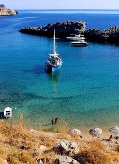 St Paul's Bay in Lindos, Rhodes (copyright Savvaidis & Associates 2013)