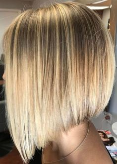 Blonde Color Women's Straight Medium Bob Hairstyles Synthetic Hair Capless Wigs – Hair Styles Inverted Bob Hairstyles, Medium Bob Hairstyles, Straight Hairstyles, Bob Haircuts, Layered Hairstyles, Hairstyles Haircuts, Sleek Hairstyles, Haircut Medium, Braided Hairstyles