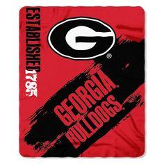 Georgia Bulldogs Blanket 50x60 Fleece Painted Design