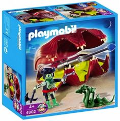 Playmobil Pirates, Small Snakes, Sea Shells, Lunch Box, Toys, Sea Serpent, Cannon, Weapons, Fire