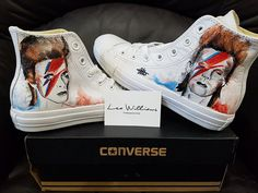 Hand painted converse. Genuine converse only, with the above selected images.Half Sizes available on request.Available in a variety of sizes, each pair is hand painted with the finest speci...