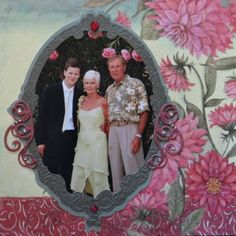 Wedding, Family scrapbook page with a Frame from Cricut's Reminisce