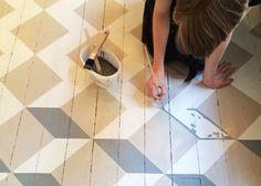Målat golv