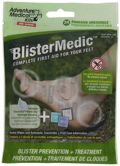 Adventure Medical Kits' improved Blister Medic rounds out the blister family of products by combining GlacierGel, Moleskin, antiseptic towelettes, and alcohol wipes into one comple