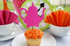 Alice In Wonderland Party Supplies Cupcake Toppers by windrosie