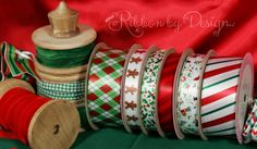Our Traditional collection includes candy cane stripes, tone on tone red stripes, holly, gingerbread men, Christmas elements and argyle! Choose any of these at http://www.ribbonbydesign.com for your decorating needs!