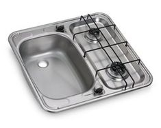 The Dometic HS 2460 L sink and hob combination is an ideal unit for your campervan, caravan or boat. New model which is similar to the Smev Ideal for the Ducato, Trafic, VW Vito. Motorhome, Materiel Camping, Converted Bus, Monospace, Dacia Duster, Sink Units, Luxury Camping, Camper Trailers, Tiny Trailers