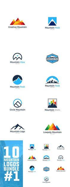 10 Mountain Logo Bundle #1