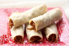 Barefeet In The Kitchen: Crock-Pot Mexican Pork and Baked Taquitos   {{Recipe link - http://barefeetinthekitchen.blogspot.com/2013/07/crock-pot-mexican-pork-taquitos-recipe.html}}