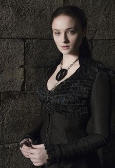 DETAIL SHOTS OF SANSA STARK'S NEW GAME OF THRONES DRESS IN ALL ITS SITH-TASTIC GLORY