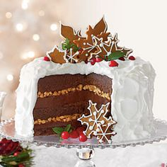 Chocolate-Gingerbread-Toffee Cake | Want to visit the SL Test Kitchen? Enter for a chance to win at southernliving.com/white-cake | SouthernLiving.com