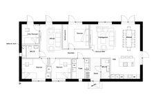 Plan Drawing, House Blueprints, House Layouts, Feng Shui, Building A House, House Plans, Villa, Floor Plans, Exterior