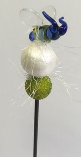 Botanistix Lamp Finials | HANDBLOWN GLASS BEE | BotaniStix | floral stakes, Naples Florida