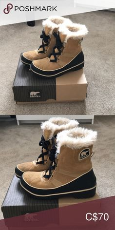 Sorel Tivoli 2 winter boots. Colour: curry Great condition Sorel winter boots. Worn only one season. Sorel Shoes Winter & Rain Boots