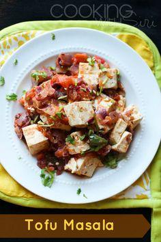 Tofu Masala #Recipe from Food and Wine Magazine #VeganMoFo #Vegan