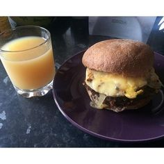I'm about to do a juice cleanse starting on Monday and also returning to the #gym so decided to pig out today with this huge, cheesy #homemade #meatlessburger made using #granose #burgermix spiced up and shallow fried in #coconutoil  topped with poached #organicfreerangeeggs and melted #cheese downed with fresh #apple and #ginger #juice tasted soooo good #Saturday #lunch #homecooking #meatless #meatfree #burger #madebyme #morgansnature #foodie #foodgasm #foodporn #foodlover #foodblogger #