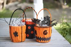 Fun and easy Halloween buckets