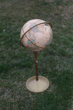 Antique Globe - Adventure Wedding - Photo Prop