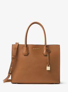 Mercer Large Bonded-Leather Tote | Michael Kors