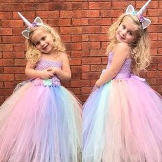 Flower Girls Unicorn Dress Tutu Princess Cosplay Costumes for Kid Birthday Party Girls Tutu Dresses, Tutus For Girls, Flower Dresses, Ball Dresses, Ball Gowns, Party Dresses, Kids Tutu, Dress Girl, Cheap Dresses