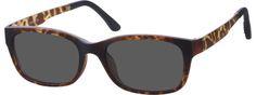 TortoiseshellSquare Eyeglasses with Magnetic Snap-On Shades6499525