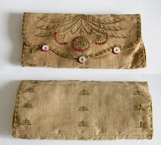 antique sewing pouch needle holder