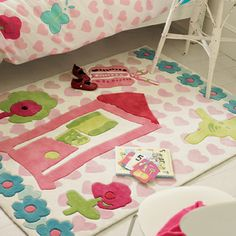 Lolas magic garden kids Rug by Designers Guild - available from Mills and Kinsella 07921 215026